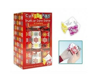Pack Of 6 Small Family Christmas Crackers Game Cracker Truth Or Dare Game