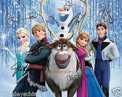"Frozen Disney Movie 11x14"" reprint Signed Cast Photo RP Elsa & Anna & MORE"