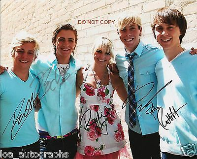 """R5 band Reprint Signed 11x14"""" Poster Photo #2 RP Ross Lynch & ALL 5 Members"""