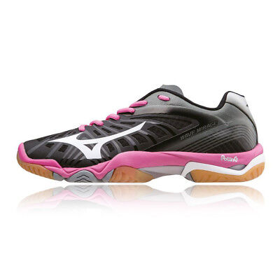 Mizuno Wave Mirage Womens Black Handball Badminton Court Sports Shoes Trainers