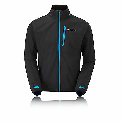 Montane Hombre Negro Rapide Softshell Impermeable Running Correr Chaqueta Top