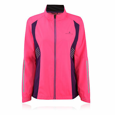 Ronhill Vizion Windlite Womens Pink Water Resistant Running Sports Jacket Top