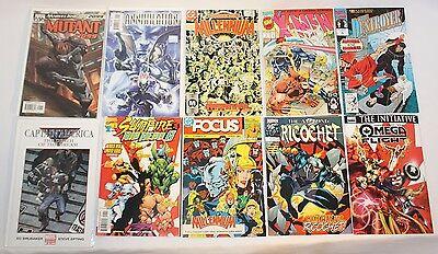 "LOT OF TEN ""8 MARVEL"" AND ""2 DC"" COMIC BOOKS 1987 through early 2006."