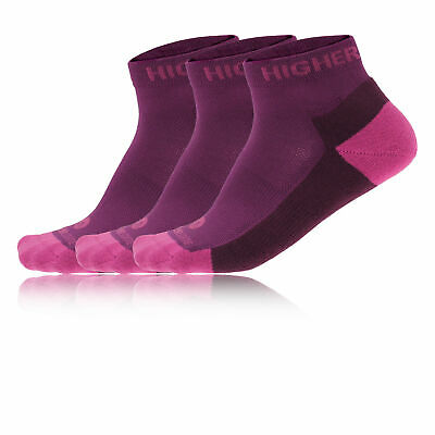 Higherstate Freedom Femme Rose Violet Performance Chaussettes Socquettes 3 Pack