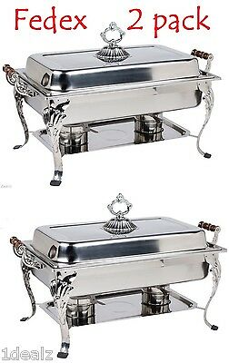 8QT CLASSIC Chafer Rectangular Chafing Dish Catering Buffet Food Tray + Rebate