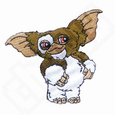 GREMLINS Cute Gizmo the Mogwai Iron Sew On Embroidered Patch Badge Kids 80s