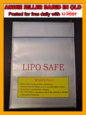Large RC Lipo Bag Fireproof Lipo Charging Sack 30x23cm Lipo Bag