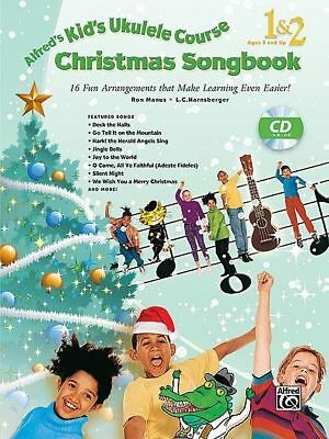 Alfred's Kid's Ukulele Course Christmas Song Book & CD *NEW* Sheet Music