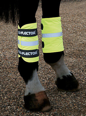 NEW Shires HiViz Reflective Fleece Lined Horse or Rider Leg / Arm Bands 1 x Pair
