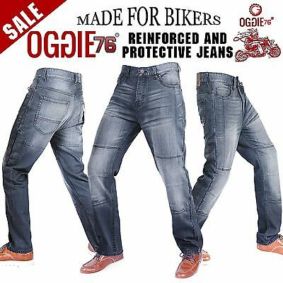 Mens Motorbike Motorcycle Denim Reinforced Jeans With Protective Lining Trouser.