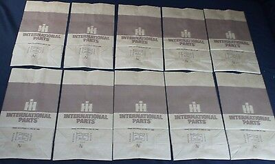 10 International Harvester Farmall Tractor Dealership Parts Counter Paper Bags