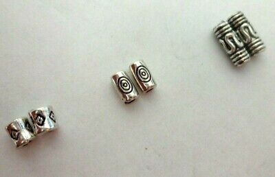 50 / 100 - Beautiful Tibetan Silver Tube Spacer Beads in 3  Different Designs.