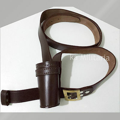 Flag Carrier Belt Genuine Leather Brown For Military & School Parades