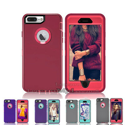 iPhone 6,6s iphone 7 iphone 8 7,8 plus Case Cover + Clip Fits Otterbox Defender