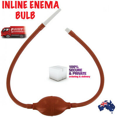 ENEMA ANAL DOUCHE INLINE Vaginal Colon ~ Health Care Kit New Sealed