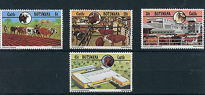 Botswana 1981 MNH Cattle Industry 4v Set Farm Animals Cows Ploughing