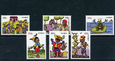 Curacao 2013 MNH Youth Care 6v Set Fairy Tales Pinocchio Jack Beanstalk Frogs