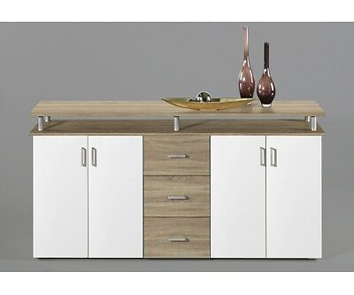highboard kommode sideboard eiche s gerau dekor wei lift ca 180 cm breit eur 139 00. Black Bedroom Furniture Sets. Home Design Ideas