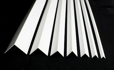 White Plastic Pvc Corner 90 Degree Angle Trim 2.75 Meters Various Sizes