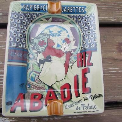 Vintage Style Ash Tray Ceramic Dish Tray Art Deco French Cigarette Tabac Lady