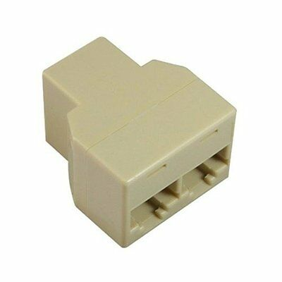 Ethernet RJ45 3 Way Network Cable Splitter Extender Plug Coupler