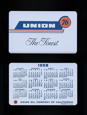 1958 Union 76 Oil Company Wallet Calendar Card