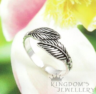 925 Sterling Silver Leaf Toe Ring