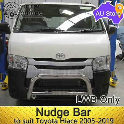 """TOYOTA Hiace 2005-2016 3"""" Stainless Steel Nudge Bar (LWB ONLY)"""