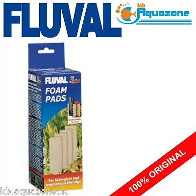 Fluval * 3 Plus Foam * Replacement * Insert * 4 Pack * Original Pad