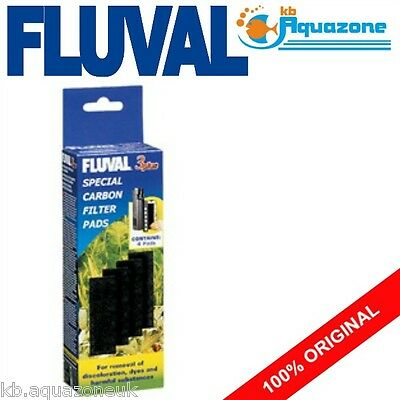 FLUVAL * 3 PLUS SPECIAL CARBON * REPLACEMENT * INSERT * PAD 4 pack * original