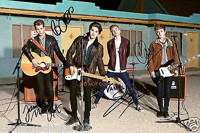 "The Vamps pop band Reprint Signed 12x18"" Poster Photo #1 RP ALL 4 Members"