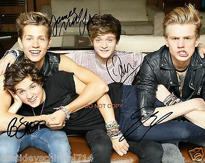 "The Vamps pop band Reprint Signed 12x18"" Poster Photo #2 RP ALL 4 Members"