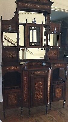 Antique etagere Console/China Cabinet/bar
