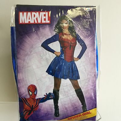NEW, Marvel Disguise Spider-Girl Adult Halloween Costume Size- S/P 4-6