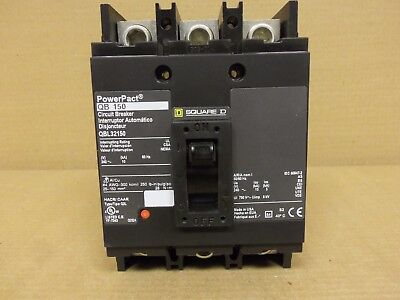 Square D Powerpact Qbl Qbl32150 150 Amp 3 Pole 240V Circuit Breaker