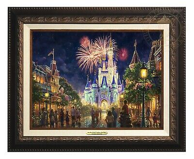 Thomas Kinkade Studios Disney's Main Street USA 12 x 16 Canvas Classic Framed