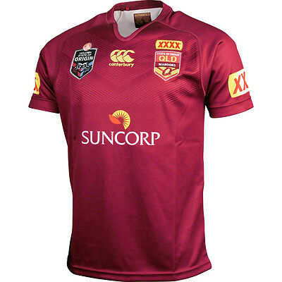 Queensland State of Origin Maroon 2015 Men's Official On Field Jersey Size S-6XL