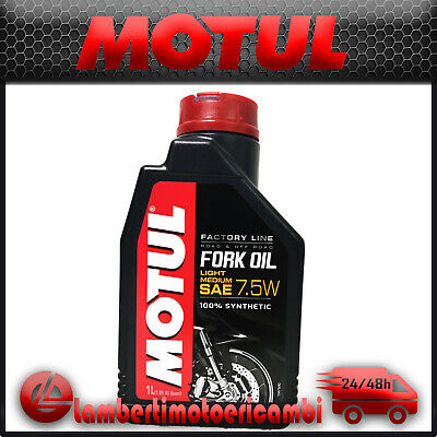 Olio Forcella Motul Fork Oil Factory Line 7,5W Light Medium 100% Sintetico