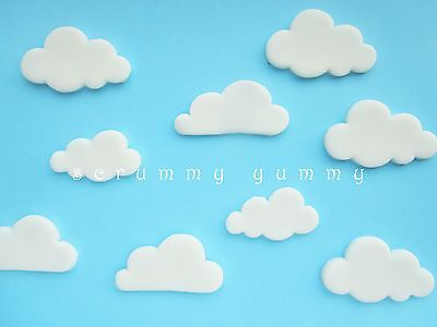 9 Clouds edible cake cupcake topper sugar decoration birthday Thomas Winnie