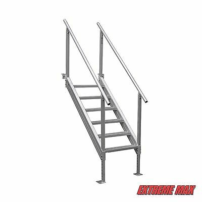 Extreme Max 3005.3846 Universal Mount Aluminum Dock Stairs, 6 Step
