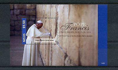 Nevis 2014 MNH Pope Francis Visits Israel 1v S/S II Popes Catholic Church