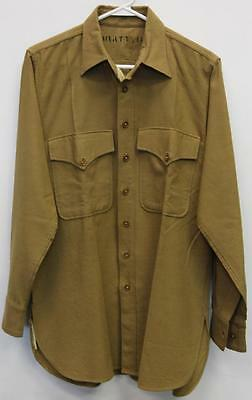 WWII 1944 USMC Flannel Shirt From Parris Island w/ Owner's Name