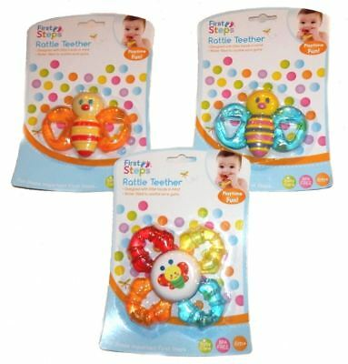 First Steps Baby Rattle Teether 6m+