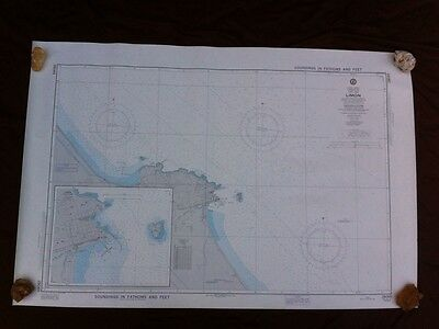 "Nautical Chart Costa Rica Limón 45"" By 30"""