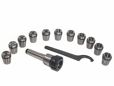 MT3 Shank ER32 Chuck With 11 PC Collets Set