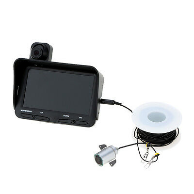 "HD Underwater Ice Video Fishing Dual Camera DVR 4.3"" Monitor 20/30m Fish Finder"
