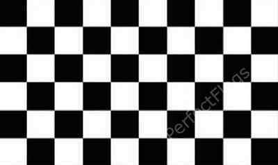 CHEQUERED BLACK WHITE - CHECKERED RACING SPORTS FLAGS - Size 3x2, 5x3, 8x5 Feet