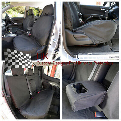 Mitsubishi L200 2006-2015 Tailored Front & Rear Seat Covers Black 151 152