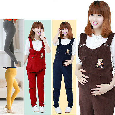 Fashion Casual Women pregnant expectant maternity Mother Long Pants Trousers