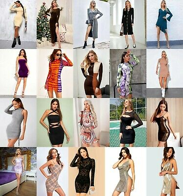 Wholesale Lot 101 Pcs Womens Mixed Apparel Clothing Tops Skirts Lingerie S M L